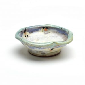 small salt cellar, handmade clay dish, small clay ramekin, pinku pottery