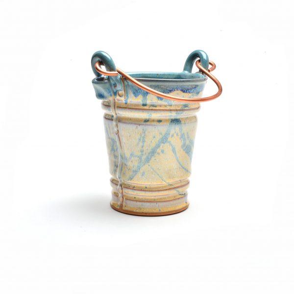cream and sage utensil holder, unique kitchen decor asheville, asheville pottery , asheville craft gallery