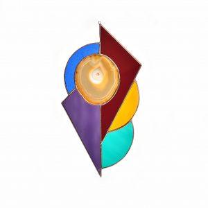 rainbow geode suncatcher, unique housewarming gift, homeowner gift