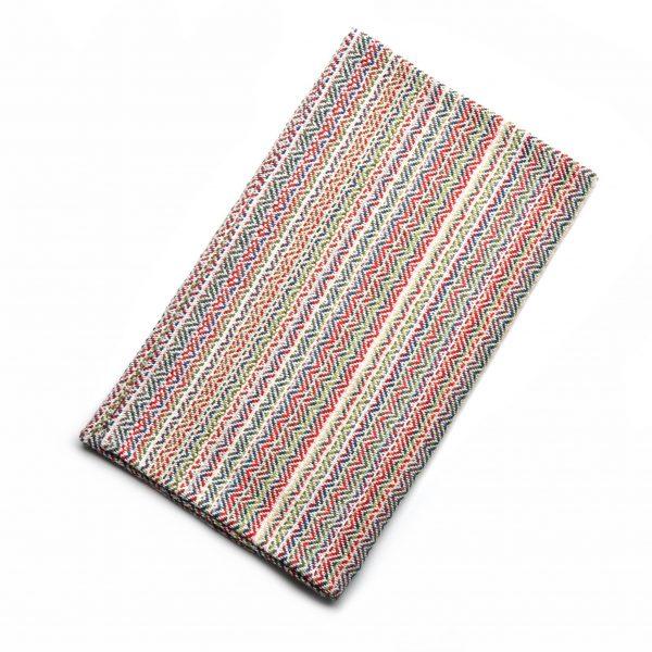 multicolored handwoven dish towel, old va textiles cotton dish towel