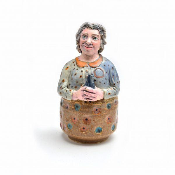 grandma pottery bank