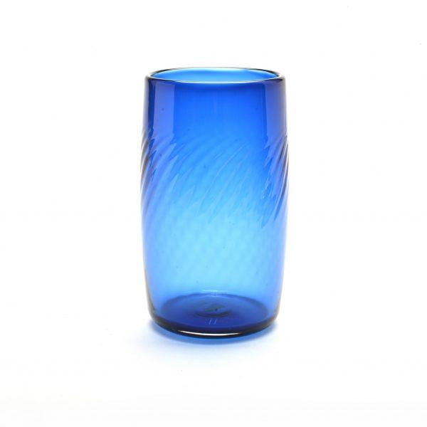 blue glass, blue pint glass, gifts for him, handmade blue glass, north carolina glass artist, glass penland