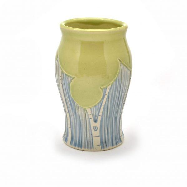 vase with summer tree decoration, doctor seuss pottery