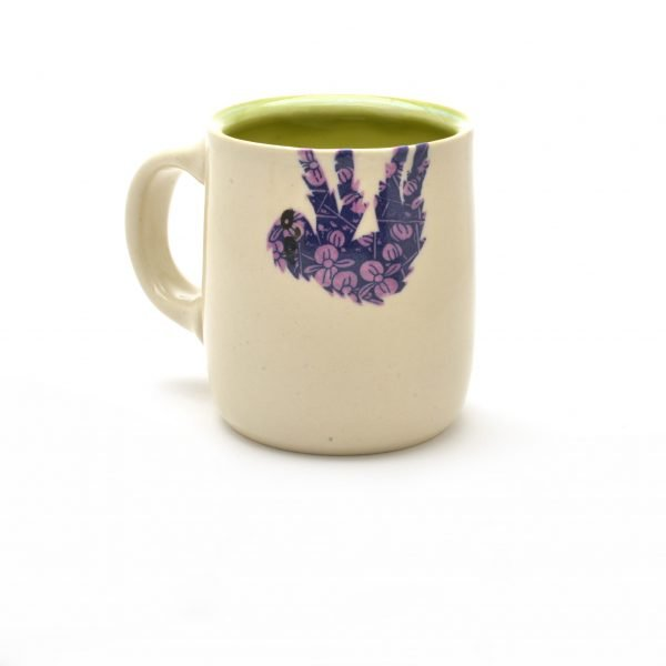 sloth mug, handmade wheel thrown sloth mug, sloth art