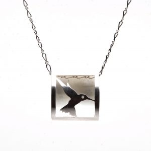 3D dragonfly sterling silver necklace, affordable handmade jewelry, virginia jeweler