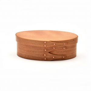 medium sized cherry shaker box with copper tacks