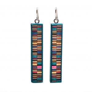 colored wood earrings, affordable handmade gift, gift under 50, asheville wood