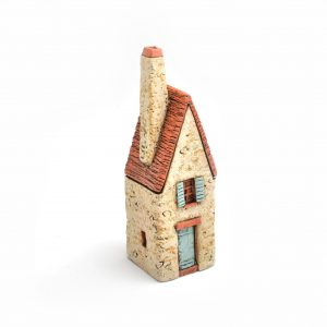 small ceramic clay house sculpture, house warming gift, nc clay artist, folk art center,
