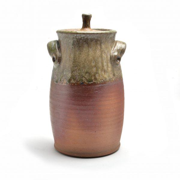 large wood fired jar, traditional clay, folk art center