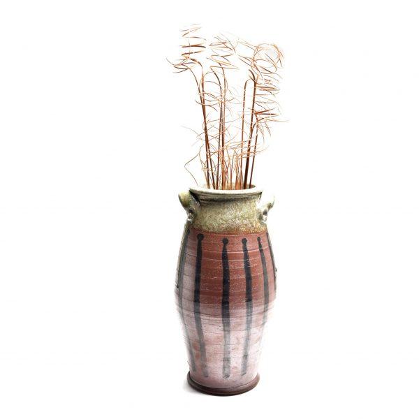 extra large woodfired vase, large vase mountain home decor