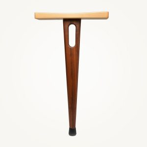 handmade one legged wooden stool perfect for outdoor music shows, camping chair