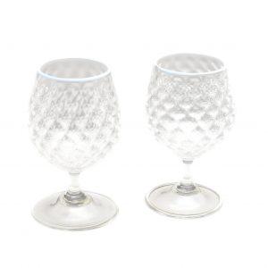 blown glass wine glass, asheville glass blower, glassblowing, fancy handmade glasses