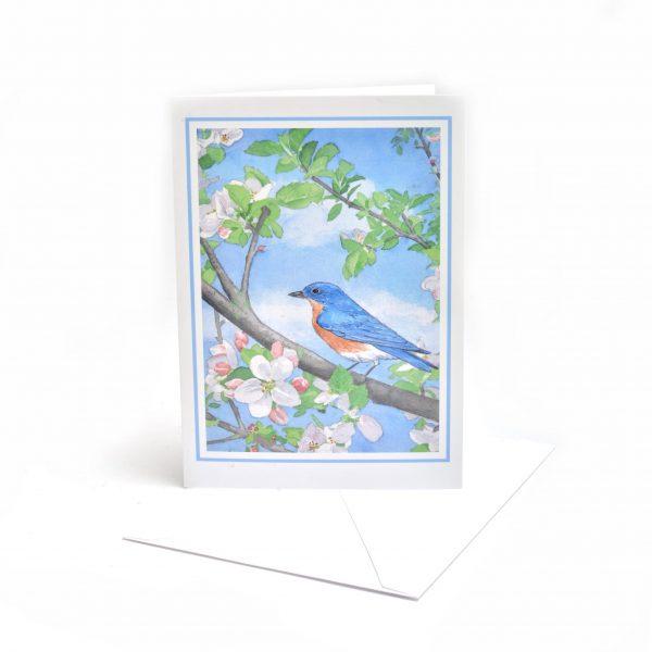 handmade notecards with NC blue bird