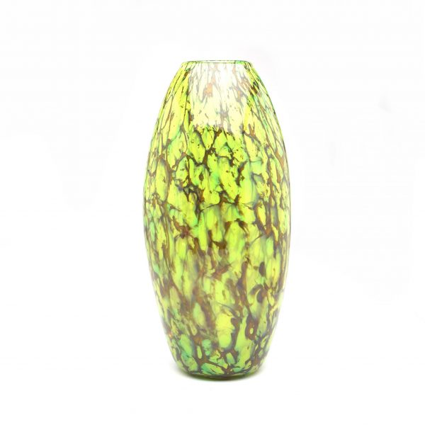 medium sized glass specked green vase