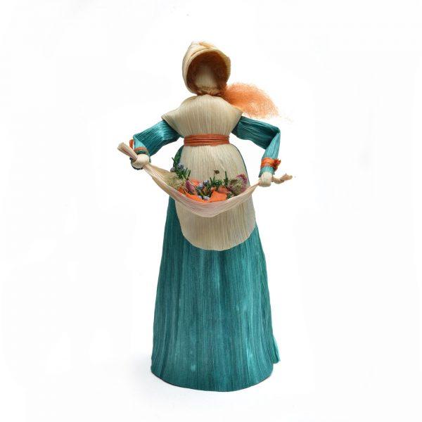 corn shuck gatherer, mountain heritage crafts, traditional corn shuck doll,