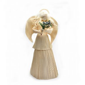 white corn shuck angel doll, traditional appalachian christmas