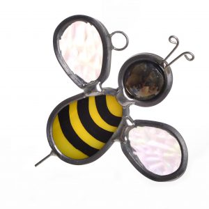 honey bee glass suncatcher