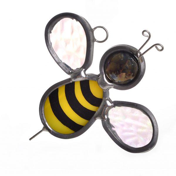 honey bee glass suncatcher