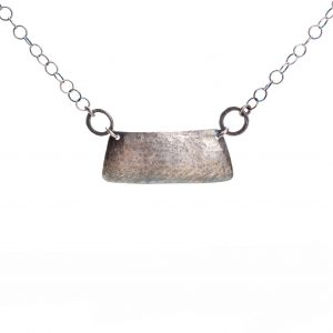hammered and oxidized silver necklace for every day