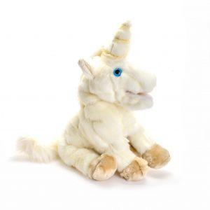 unicorn handmade puppet, handmade white unicorn puppet,