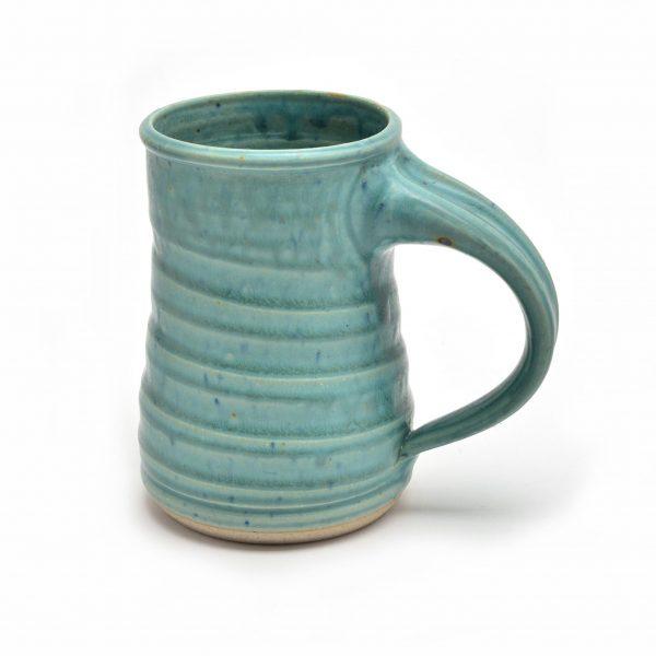 turquoise beer stein, frosty mug, large mug, extra large handmade mug