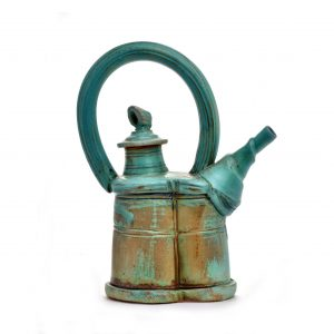 large teapot, centerpiece, nc pottery, huge teapot