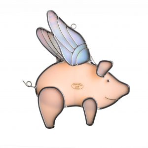 when pigs fly, funny suncatcher,