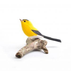 hand painted and carved goldfinch, birdwatching gift, bird carving, birdwatching gift