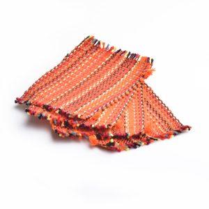 orange woven mug coasters