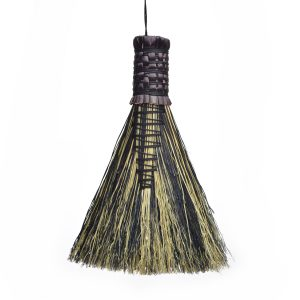 black and white small handheld broom