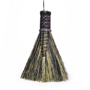 black and white small handheld broom