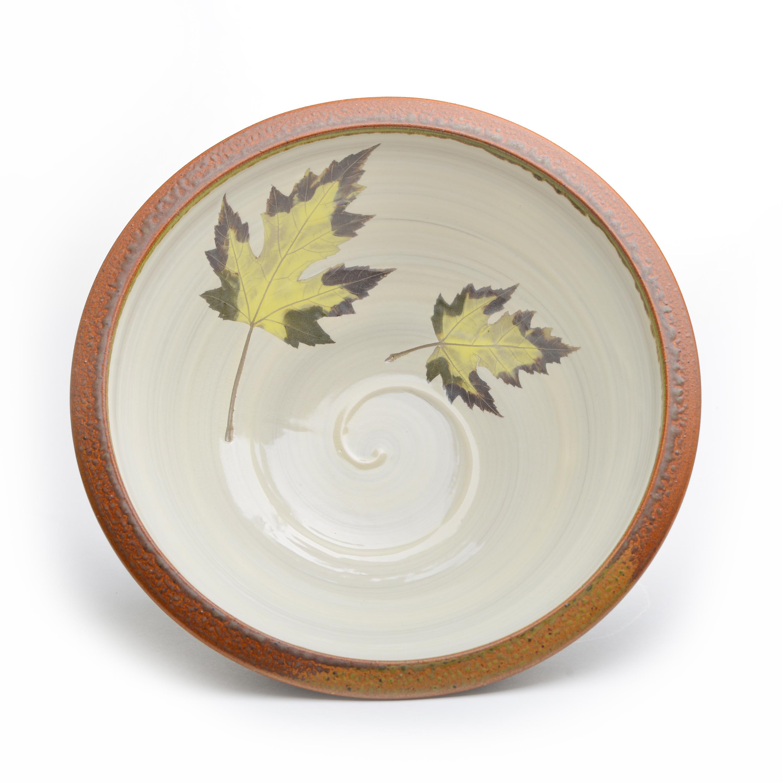 Large Ceramic Leaf Serving Bowl Southern Highland Craft Guild