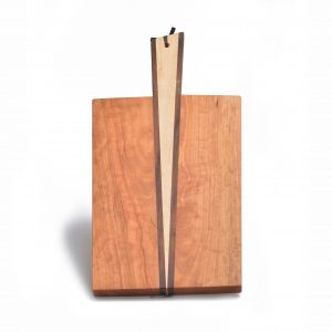serving board made of 3 woods, serving board with handle, charcuterie board