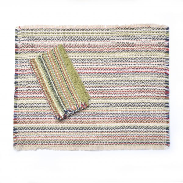natural flax multicolor handwoven placemats and napkins