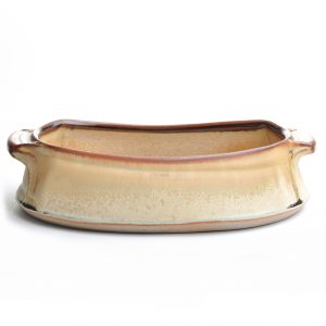 oven safe pottery, village potters, lasagna dish, village potters