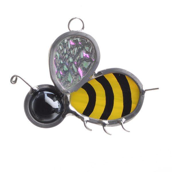 glass side view of honey bee suncatcher