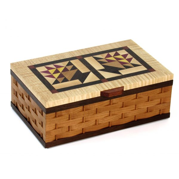 shaker wood box, handcrafted family heirloom, quilters box, nc wood artist