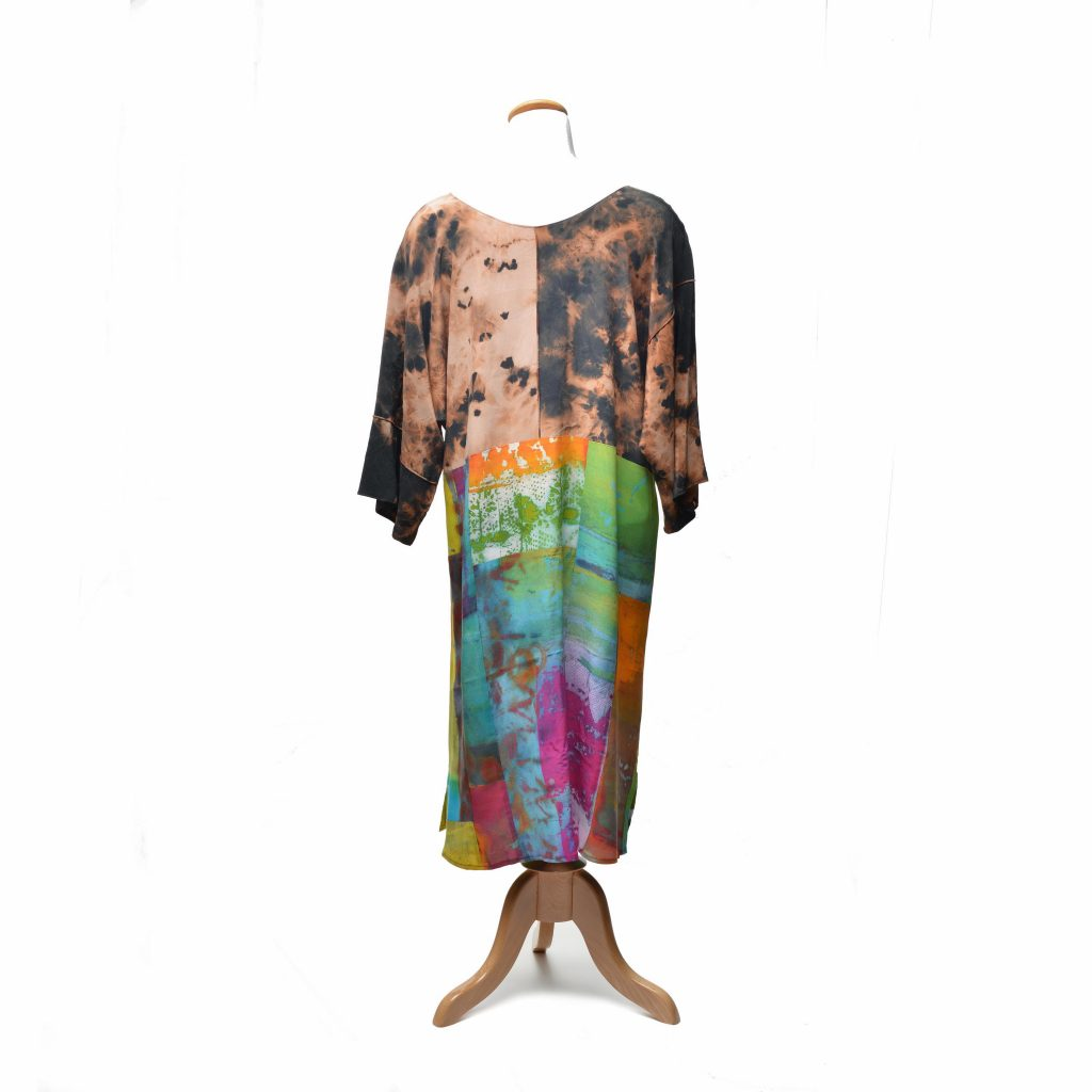 Hand Painted & Dyed Tunic Dress by Teresa Hays