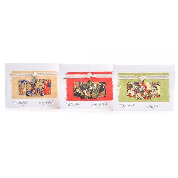 happiness card, handmade card, origami art,