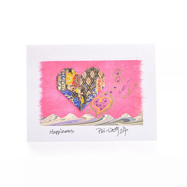 love card, valentines day card, handmade origami card