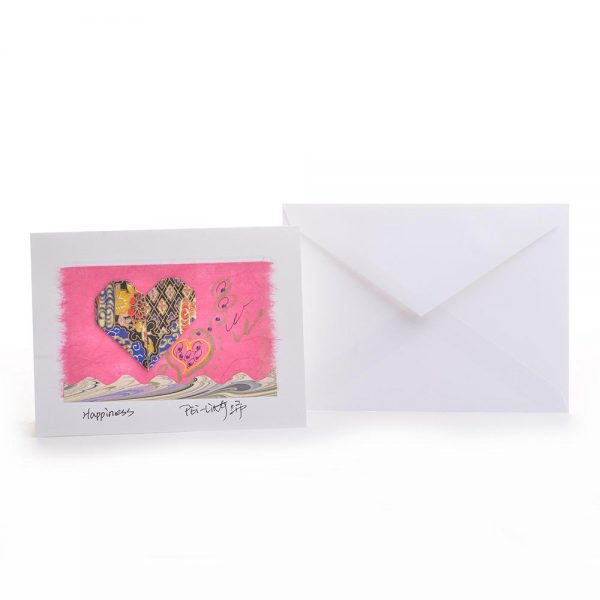 love card and envelope, valentines day card, handmade origami card