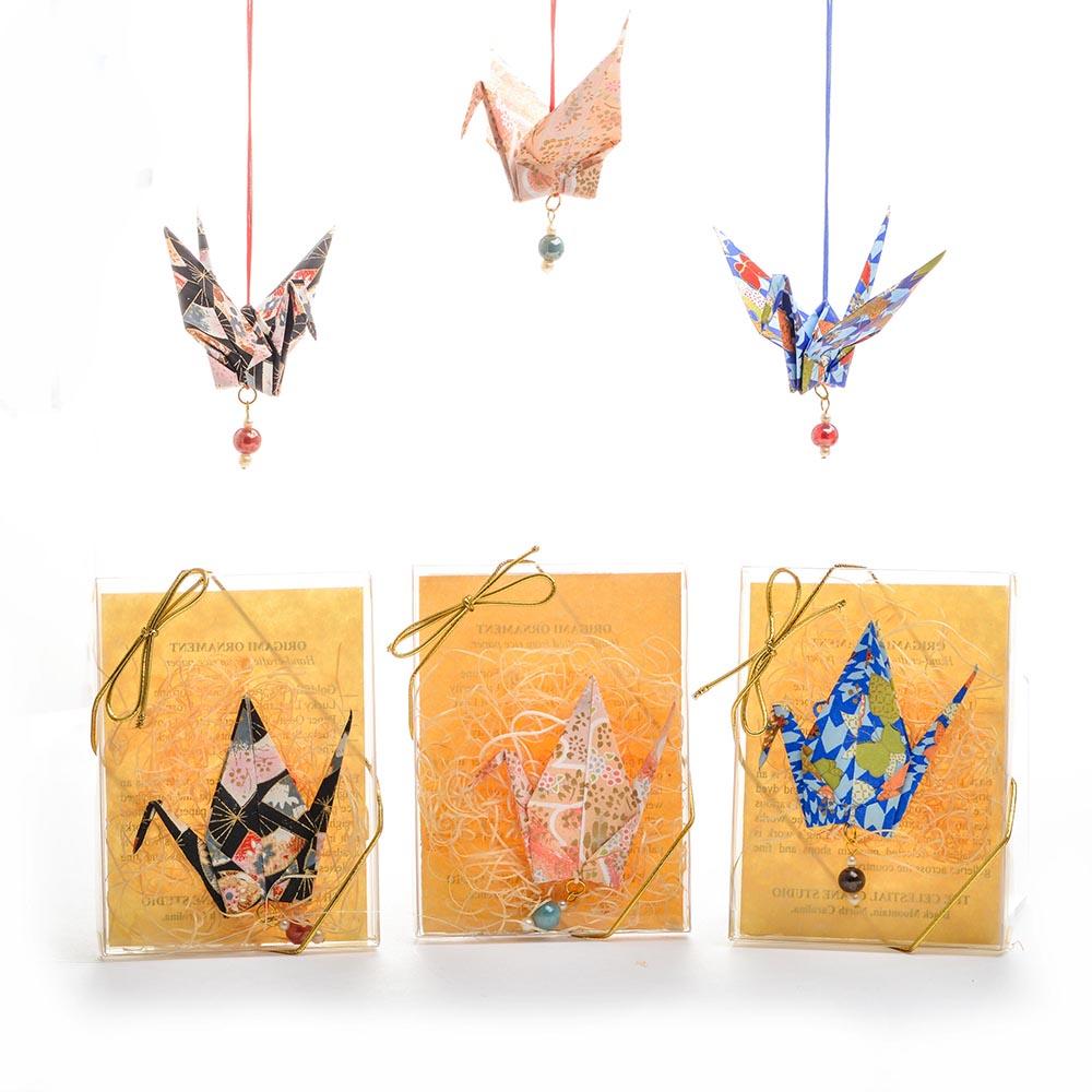 Paper Crane Origami Ornament Southern Highland Craft Guild