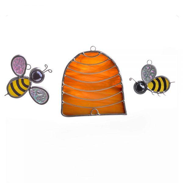 honey bee suncatcher, gift for beekeeper, beekeeper handmade,