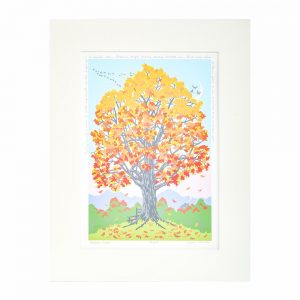 fall room decor, fall leaves tree print, north carolina printer,