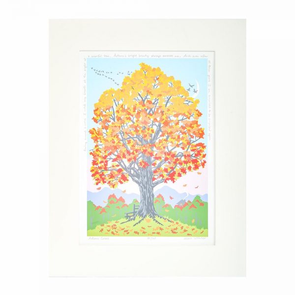 fall room decor, fall leaves tree print, north carolina printer,