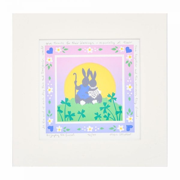 growing old together bunnies, bunnies print, thoughtful gift for grandparents, anniversary gift