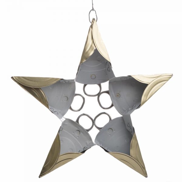 back side of cat food star ornament,