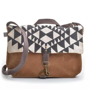 vegan bag, black white and brown canvas large shoulder bag, handmade canvas shoulder bag, rachel else, elementality asheville,