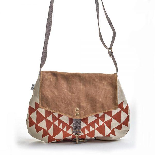 handmade vegan bag, handprinted canvas bag, waxed linen bag, folk art center, elementality asheville