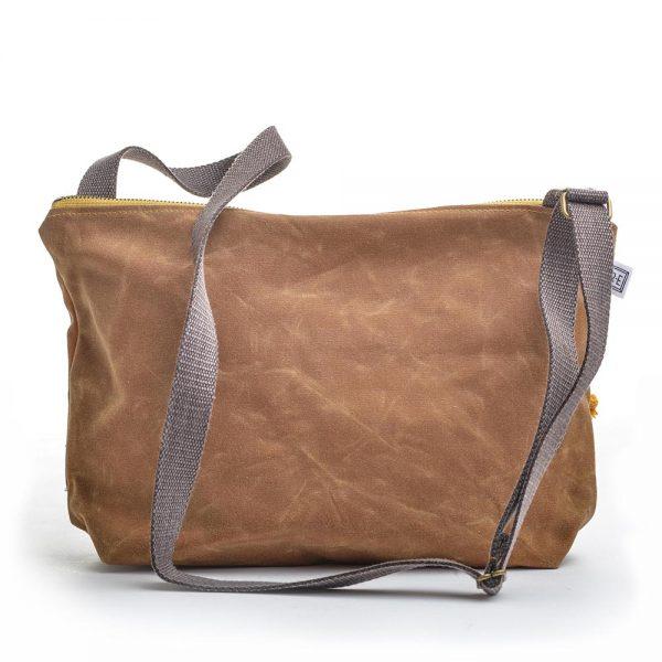 waxed canvas handmade bag, elementality asheville